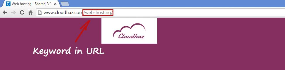 keyword in url